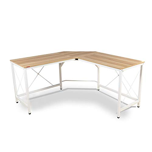 Mr IRONSTONE L-Shaped Desk Corner Table Computer Desk 59″ PC Laptop Study Writing Table Workstation for Home Office Review
