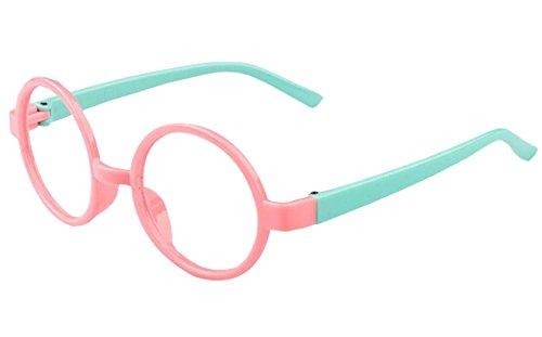 Rosa Kreative Kinder Brillengestell runde Art und Weise dekorative Feld