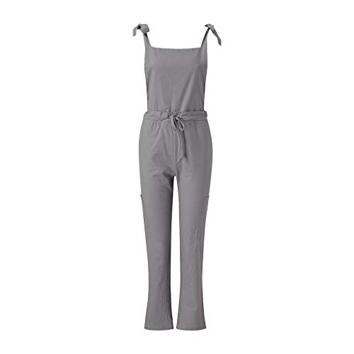 - 2019 QueenMMCasual Jumpsuits Overalls Baggy Bib Pants Plus Size Wide Leg Rompers Gray