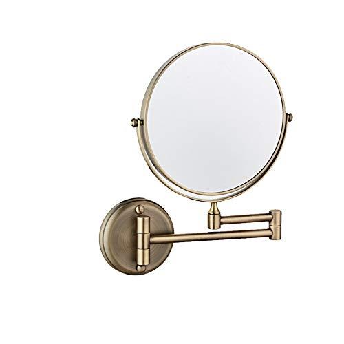 Makeup Mirror Amplification Swivel Punch Free Double Mirror Adjustable Antirust Detachable Antiskid - Bathroom Antique Retractable Mirrors Style