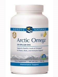 Nordic Naturals - Arctic CLO, Heart and Brain Health, and Optimal Wellness, 180 Soft Gels (FFP)