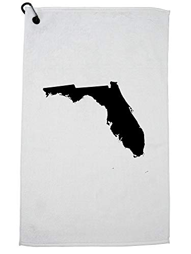 Hollywood Thread Florida State Silhouette - Home State Golf Towel with Carabiner (Florida Gators Cart Bag)