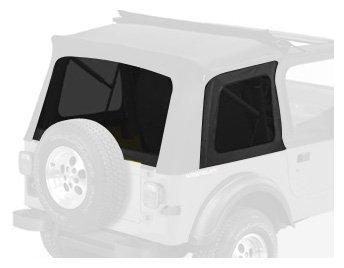 Bestop 58698-15 Black Denim Tinted Window Kit for Sunrider for 1976-1995 CJ7 and Wrangler YJ by Bestop