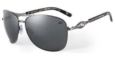 Sundog Freestyle 413701 Sunglasses, Brushed Gold Frame/Brown Lens