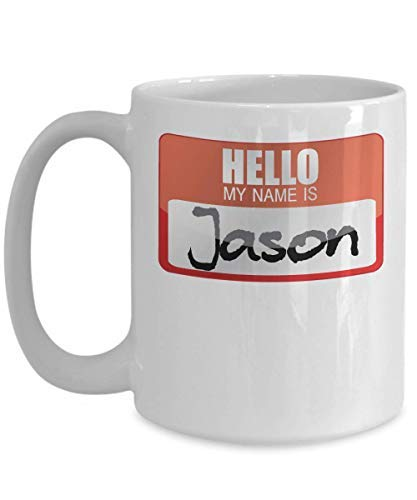 (My Name Is Jason Halloween Costume Horror Film Scary Movie Trick Or Treat Gift Mug White Coffee Mug Gifts for Women Men)