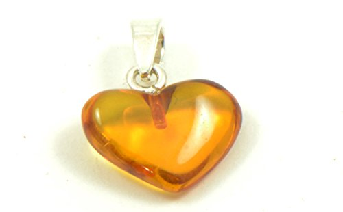 Genuine Baltic Amber Heart Pendant, Hand Made From Genuine Baltic Amber, Pendant For Necklace - Amber Heart Pendant