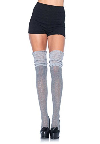 Leg Avenue Over the Knee Scrunch Sock (Grey) by Leg Avenue