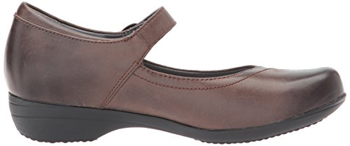 Chocolate Jane Mary Women's Fawna Nappa Burnished Flat Dansko x8q1XaC
