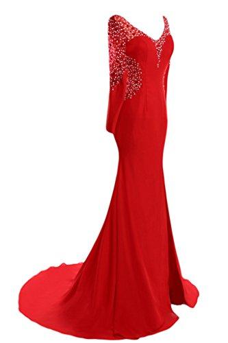sera partito pietre da donne maniche Rosso da Promkleid slot del Ivydressing da vestito Alta partito vestito vestito qualità Le del lunghe 0xvpqqUw