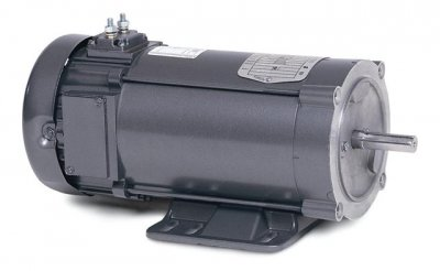 Baldor Electric, CDP3420-V24.333HP, 1800RPM, 24V, 56C Frame, C-Face Flange, Foot Mount, TENV, General Purpose Motor