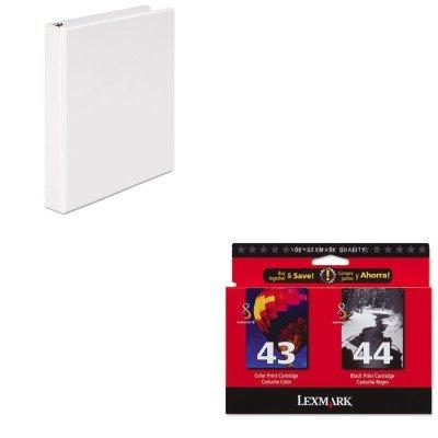 KITLEX18Y0372UNV20962 - Value Kit - Lexmark 18Y0372 Ink (LEX18Y0372) and Universal Round Ring Economy Vinyl View Binder (UNV20962)
