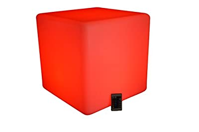 """17"""" LED Light up Waterproof Cordless Glow Cube / Led Cube Seat 16 Different Color Changed By Remote Control"""