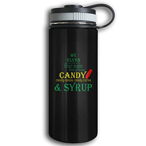 Kkidj Ooii We Elves Candy Candy Canes Candy Corns and Syrup 17oz Stainless Steel Water - Syrup Water Corn