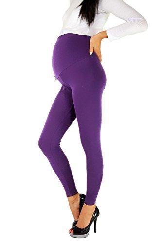 lunghi caviglie Fashion taglia premaman molto Leggings in alle fino Futuro unica confortevole Violett cotone tRqYwq