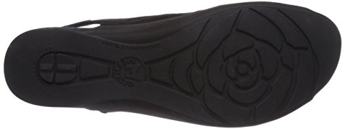 BLACK Negro de mujer Mephisto BUCKSOFT PEGGIE de 6900 Sandalias Negro para vestir cuero wfwgtqFZ