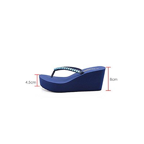 2 EU36 Exterior Bottom Sandalias CN35 Wear Color UK3 Verano Beach de Femeninas 2 Slope Tamaño Sandalias antideslizantes Grueso S6wRF4wqx