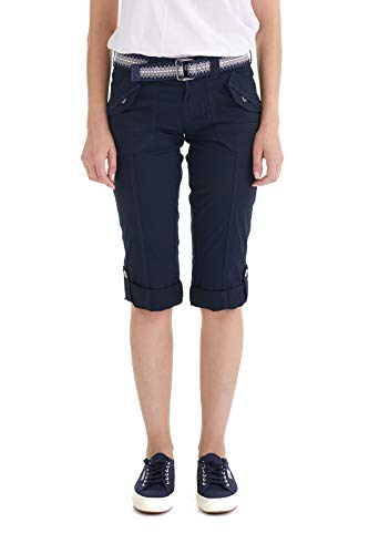 Suko Women Cargo Pants Adjustable Capri 17050 Navy 6 ()