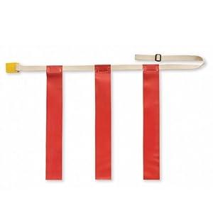 SSG Triple Threat Flag Football Belts - Red (1 Dozen)