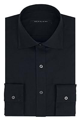 Sean John Men's Regular Fit Solid Spread Collar Dress Shirt