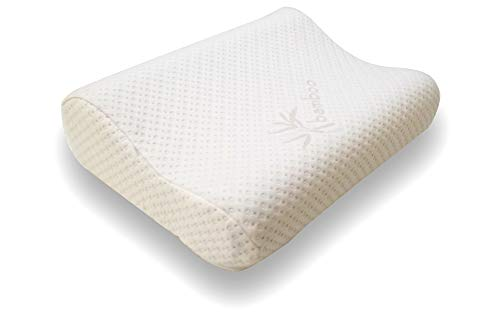 Snuggle-Pedic Trillow Orthopedic Contour Memory Foam Neck Pillow - Chiropractic Doctor Designed 3 in 1 Adjustable Fit & Zipper Removable Kool-Flow Cooling Hypoallergenic Bamboo Cover (Standard)