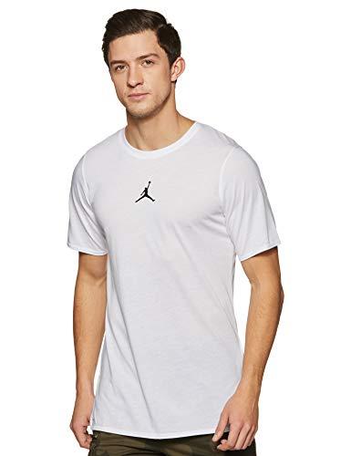 Jordan Nike Mens 23 Tech Short Sleeve T-Shirt Top (X-Large, White/Black)