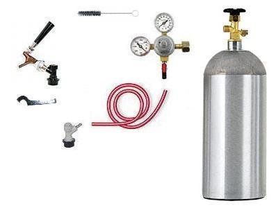 1 Tap Chrome Faucet Ball Lock Beer Kegerator Kit W Co2 Low Flat Rate Shipping