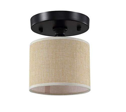 Chandeliermini Stoff Deckenleuchte Moderne Deckenleuchte Flur Licht E27 Runde