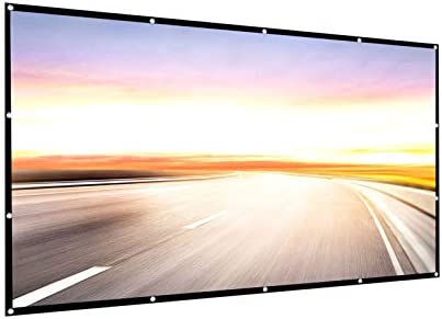 Projector Screen 150 inch 16:9 HD Foldable Anti-Crease Portable Projection Movies Screen for Home Theater Outdoor Indoor Support Double Sided Projection by way of P-JING