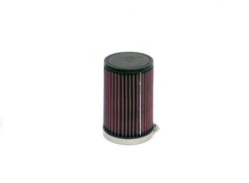 (K&N RD-6010 Universal Clamp-On Air Filter: Round Tapered; 3.625 in (92 mm) Flange ID; 6 in (152 mm) Height; 4 in (102 mm) Base; 3.75 in (95 mm) Top)