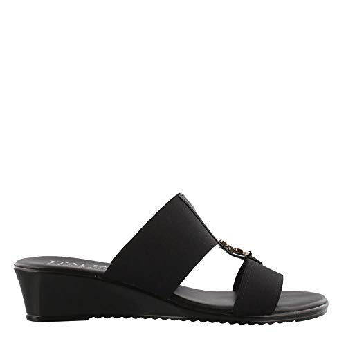 ITALIAN Shoemakers Women's, Avery Sandals Black 9 ()
