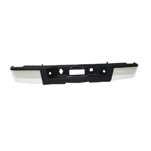- Fey 31023 Perfect Match Custom Fit Chrome Replacement Rear Bumper with Mounting Brackets