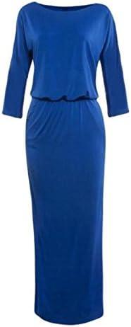 Toraway Women Summer Long Maxi Boho Evening Party Dress with Pocket Off-Shoulder Dress for Women