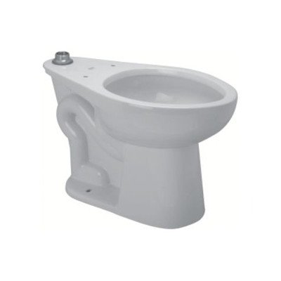 Zurn Z5654-BWL-BA-AM Toilet Bowl Only, Floor Mount 1.28 Het WC, Top Spud, 14'' Rim For TAS/LAUSD