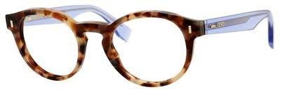FENDI Eyeglasses 0028 07Ok Brown Beige / Lilac - Fendi Mens Eyeglasses