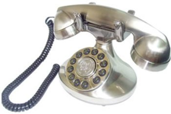 Alexis 1922 Decorator Phone - Silver Computer, - Phone Alexis Decorator