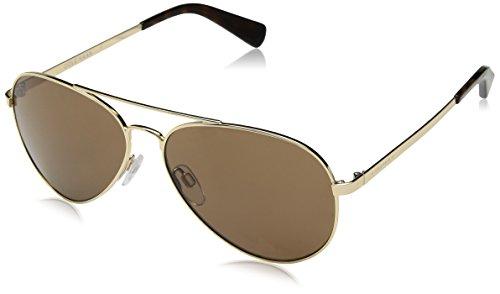 Cole Haan Men's Ch6007 Metal Aviator Sunglasses, Gold, 58 - Aviator Cole Haan Sunglasses