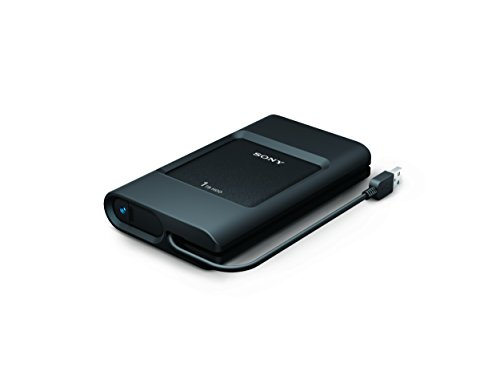 Sony PSZ-HC1T//C 1TB Ruggedized External HDD Tethered USB 3.0 cable and USB C port, Black ()
