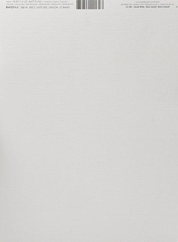 Bazzill Monochromatic 8.5 x 11 Inches Textured Cardstock Bazzill White (10-1001)