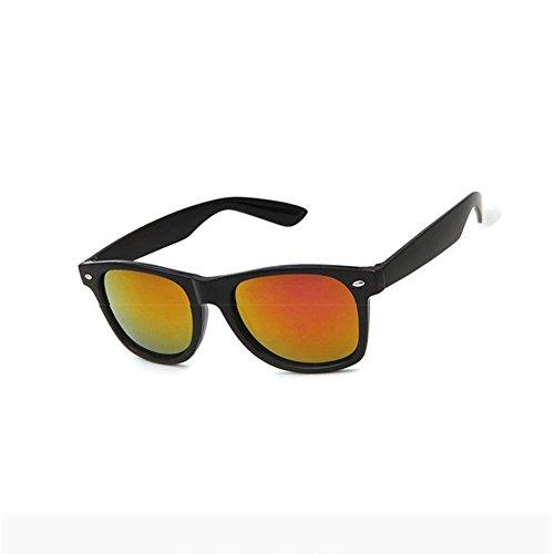 con espejo sol dorado unisex de protección polarizadas y retrovisor Gafas rosso UV Txt6RO