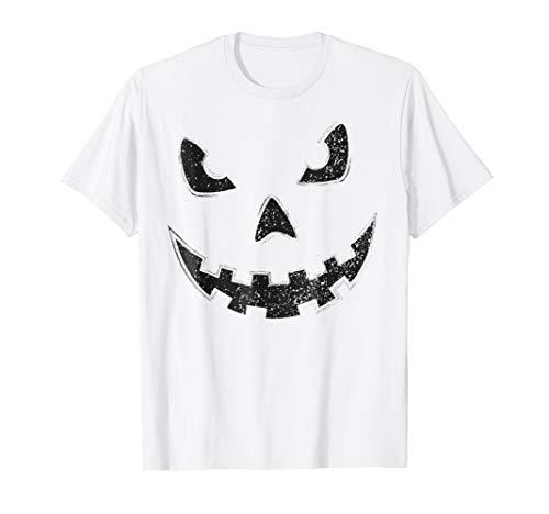 Jack O Lantern Pumpkin Face Halloween Scary BLACK T Shirt