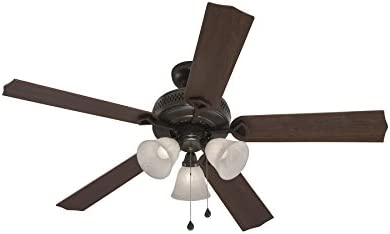 Harbor Breeze Classic 52-in Antique Bronze Indoor Downrod Or Close Mount Fan