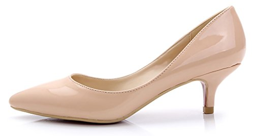 nude Con CAMSSOO mujer pu punta patent dtxFq8aF