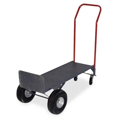 Sparco Convertible Hand Truck with Deck - 800 lb Capacity - 2 x 10quot; Caster - Steel - 21quot; x 18quot; x 47quot; - Gray (Sparco Convertible Hand Truck)