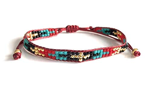 (Modern Casual Hand Woven Glass Seed Beads Mixed Color Bracelets)