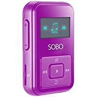 MP3 Player With 8GB, With Wearable Clip For Sport, Lossless Music Player, Supports up to 128GB, with FM Radio, Voice Recorder, SAMVIX SOBO Purple Mp3 Player For Girls
