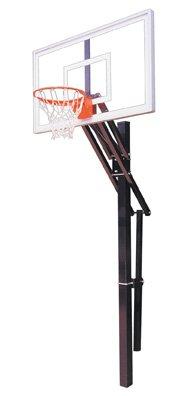 最初チームSlam選択steel-acrylic in ground調整可能バスケットボールsystem44、サドルブラウン B01HC0E7KE