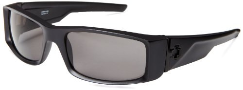 Spy Optic Hielo 670375374135 Polarized Wrap Sunglasses,Matte Black Frame/Grey Polarized Lens,One - Spy Optic Glasses