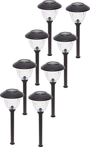 Energizer Stainless Steel Solar LED Path Stake Light Gunmetal, 8 Pack