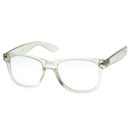 amazoncom zerouv clear transparent translucent crystal frame clear lens horn rimmed glasses 2 pack shoes