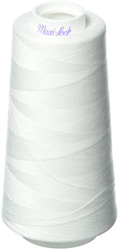 - Zipperstop 4 Large Cones (3000 Yards Each) of Polyester Sewing Quilting Serger Maxi Lock All Purpose Thread White